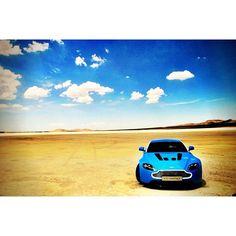 Cool Aston Martin Vantage Desert-scape
