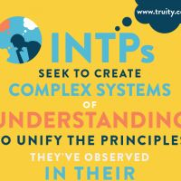 INTPs seek to create complex systems of understanding to unify the principles they've observed in their environments. Don't know your Myers Briggs type? Meet with a CCBC Career Counselor today to learn more about your personality and best-fit careers!