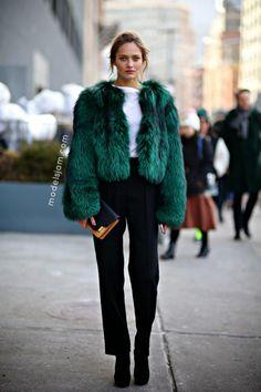 Karmen Pedaru after Michael Kors, New York, February 2014 - Models Jam