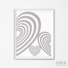 Heart poster Geometric posters printable Wall Art by ORIAPRINTS