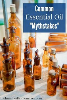 There are many strong statements floating around in aromatherapy circles, and it can be hard for the untrained eye to distinguish the myths from the truth. This post aims to bust some myths and help you see through them | via http://thehumbledhomemaker.com