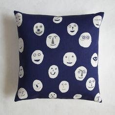 Image of Masks cushion - navy