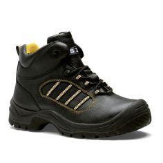 Chaussures de sécurité S.24 Ligne Worker Modèle Top S3 Réf. : 5082 • Tige cuir grainé noir • Doublure textile • Embout acier • Semelle anti-perforation inox • Semelle extérieure polyuréthane • Semelle intérieure SENSATION
