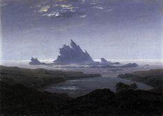 FRIEDRICH, Caspar David Rocky Reef on the Sea Shore c. 1824 Oil on canvas, 22 x 31 cm Staatliche Kunsthalle, Karlsruhe