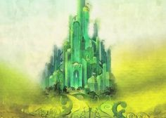 """Emerald City Greeting Card for sale by Mo T.  Our premium-stock greeting cards are 5"""" x 7"""" in size and can be personalized with a custom message on the inside of the card.  All cards are available for worldwide shipping and include a money-back guarantee."""