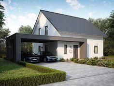 home extensions massa haus massa einfamilienhaus lifestyle 16 02 s bild 3 Carport Designs, Garage Design, Pergola Designs, Exterior Design, Carport Garage, Pergola Carport, Modern Carport, Pergola Cost, Diy Pergola