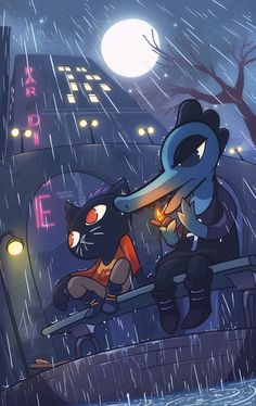 Twitter | Night in the Woods | art