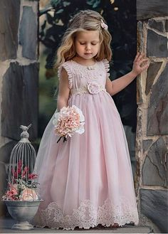 a59e77860adb Buy discount Charming Organza & Satin Jewel Neckline A-Line Flower Girl  Dresses With