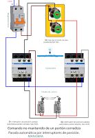 Esquemas eléctricos: Comando no mantenido de un portón corredizo. Parad...