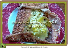 Galette pommes de terre, bacon, oignon et crème, Vie quotidienne de FLaure