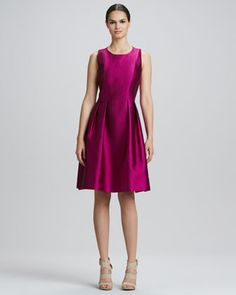 Jewel-Neck Full-Skirt Cocktail Dress  by Kay Unger New York at Neiman Marcus.
