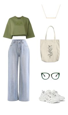 Style Outfits, Kpop Fashion Outfits, Girls Fashion Clothes, Indie Outfits, Tomboy Fashion, Retro Outfits, Look Fashion, Outfits For Teens, New Outfits