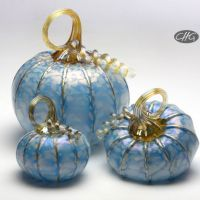 Really gorgeous glass pumpkins from C&H Glassworks, if you're looking for such a thing!