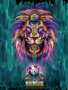 Chris Saunder's Collection of Intricate Psychedelic Digital Art Pieces #psychedelicart trendhunter.com