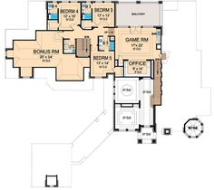 The Eisenhower estate house plan has everything you can imagine within its sq ft. This luxury house plan shows off its wine cellar on the main floor Luxury Floor Plans, Luxury House Plans, Dream House Plans, Modern House Plans, Small House Plans, House Floor Plans, Mansion Plans, Ranch House Plans, Cottage House Plans