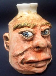 """Little Face Jug (4"""") by Dave the Potter"""
