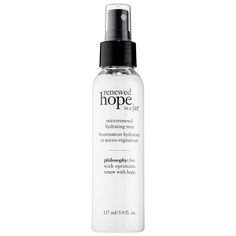Shop Philosophy's Renewed Hope In A Jar Microrenewal Hydrating Mist at Sephora. The face mist hydrates and brightens skin.