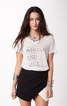 whiskey and lace tee // @Chaser Brand #whatsnew #planetblue