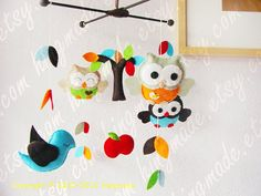 Baby Mobile Felt Mobile Decorative Nursery Mobile by hingmade