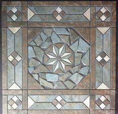 "entryway 21 1/2"" Tile Medallion - Daltile Franciscan Slate tile series, floor or wall"