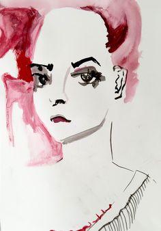 MSKPU fashion drawing / illustration Author: Joanna Bałachwiej Tutor: Roza Puzynowska School MSKPU (International School of Costume and Fashion Design in Warsaw)  www.mskpu.com.pl  Najlepsza Szkoła Mody w Polsce.  Rysunek żurnalowy, ilustracja modowa, moda