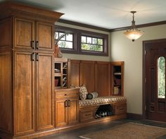 Cabinet Design Styles Photo Gallery - Kitchen Designs & Styles - Schrock Cabinetry mudroom/entry cabinet vignette
