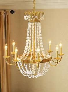 Add romance and light in your dining room or entry with the sophisticated Countess Chandelier that's reminiscent of Parisian glamour.