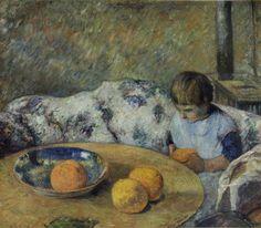 eugène henri paul gauguin(1848-1903), intérieur avec aline gauguin, 1881. oil on canvas, 52.4 x 60.3 cm. museums sheffield, uk http://www.bbc.co.uk/arts/yourpaintings/paintings/interieur-avec-aline-gauguin-71713