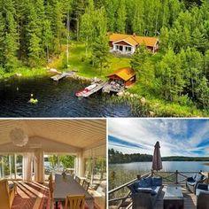 Ein absolutes Traumhaus in ungestörter Alleinlage direkt am See. Auch schon für 2018 buchbar ... #schweden #sweden #see #natur #ausblick #sommer #ferienhaus #hausamsee
