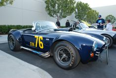 Carroll Shelby's 1962 Cobra represents the pinnacle of the Anglo-American sports car, which combined a classic aluminum roadster body (in this case cribbed .