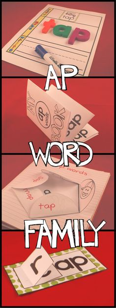 FREE 'ap' word family activities. Great for centers and word work!