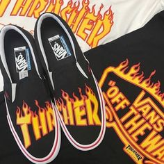 thrasher x vans of the wall collaboration 2017 pinterest // @reflxctor —————— #thrasher_vans #vans #thrasher