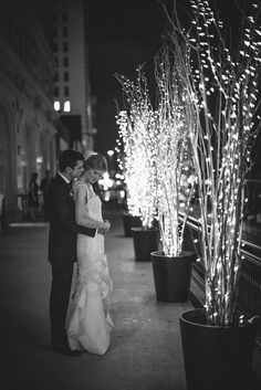 Twinkle lights + branches. Simple. Photography By / stefanochoi.com, Floral Design By / floralevents.com/