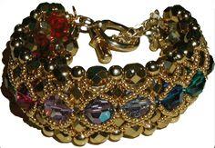 Bracelet Shérazade en Perles  English Translation; http://www.serial-beader.com/bijoux-et-creations-en-perles/en/categorie-4/schema-35