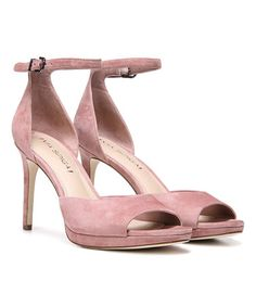 Dusty Rose Salina Suede Sandal #zulily #zulilyfinds