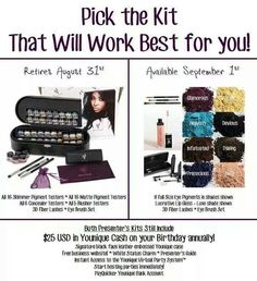 Become a presenter for You issue before they change this fabulous kit. They extended the change on the kit to October 1st   Join my team here and I will help you earn from home on-line on your time   Copy and paste this link or email me Tamward13@twc.com https://www.youniqueproducts.com/tamtam/business/presenterinfo