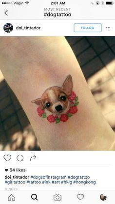 12 tatuajes de chihuahuas que te enamorarán