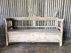 Antique 19th Century Hungarian Storage Bench by SurgeATX on Etsy