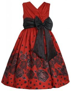 Red Black Crossover Dot and Floral Border Dress RD8MH Bonnie Jean Girl Plus-Size Special Occasion Flower Girl Holiday BNJ Social Dress, Red Bonnie Jean,http://www.amazon.com/dp/B00GEOCFWM/ref=cm_sw_r_pi_dp_obDDsb0858PY6CSN