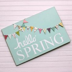 Create this project with Americana Decor® Chalky Finish — Sign in for spring on a wall accent made using Americana Decor® Chalky Fin Spring Banner, Spring Sign, Spring Crafts, Holiday Crafts, Holiday Decor, Wooden Crafts, Diy Crafts, Summer Signs, Welcome Spring