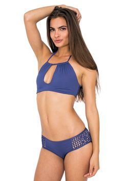 Frankie's Bikinis Koa bottom in Catalina Blue