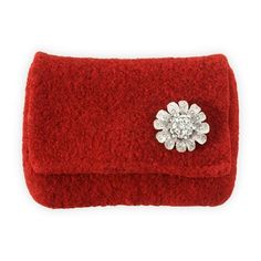 Sarah Oliver Felted Mini Clutch with Silver Flower in Holiday 2012 from Fair Indigo on shop.CatalogSpree.com, my personal digital mall.