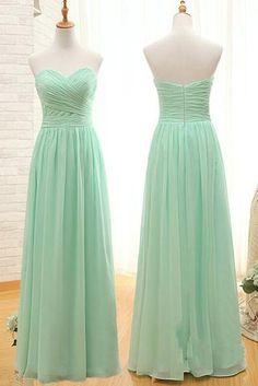 c8433f66094 Elegant Sweetheart A Line Mint Chiffon Bridesmaid Dress Prom Dresses  Bridesmaid Gown LD725