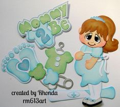 Expecting Mommy 2 Be boy paper piecing set for scrapbook pages Rhonda rm613art