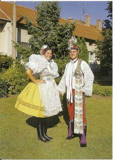 Moravia, Emerich (by valdagua) Folk Costume, Costume Dress, European Costumes, Costumes Around The World, International Clothing, Beauty Around The World, Exotic Places, Folk Fashion, My Heritage