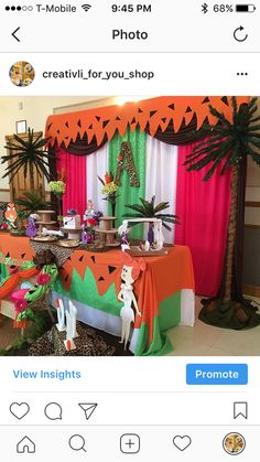 Miracle's Yabba Dabba Doo Party | CatchMyParty.com