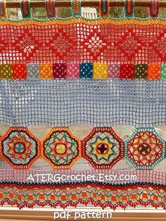 Crochet patrones BOHO CORTINA/CENEFA por ATERGcrochet