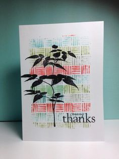silhouette stamp, five line background (HA),  by beesmom - Cards and Paper Crafts at Splitcoaststampers