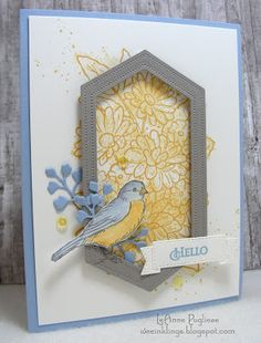 Stampin' Up! Free as a bird, ornate garden suite Theme Nature, Bird On Branch, Stamping Up Cards, Bird Cards, Get Well Cards, Disney Frozen, Homemade Cards, Your Cards, Cards Diy