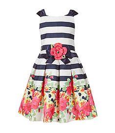 Bonnie Jean 46X StripeFloral Dress #Dillards